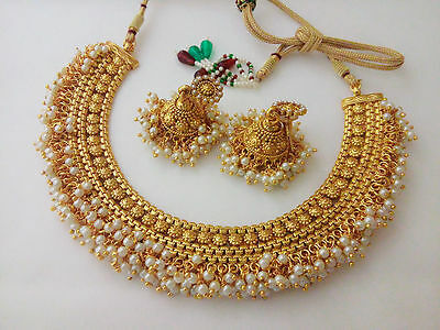 Indian Bollywood Jewelry Necklace Set Bollywood Ethnic Gold Plated Traditional