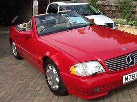 MERCEDES 320SL 1995 Red with Cream Leather