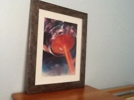LARGE MODERN ABSTRACT FRAMED PRINT