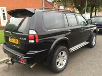 reduced 2150 mitsubishi shogun sport 2.5 raised lifting kit 54 ..120k miles £2150