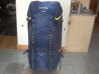 Large Pro-Action 85litre capacity nylon rucksack with hydration port-used on a 2day car journey-