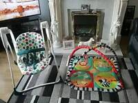 "..""""BABY GRACO ROCKER CHAIR & BABY PLAY MATT''."