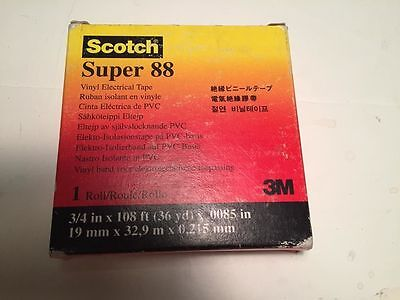 Scotch Super 88 Vinyl Electrical Tape 34 X 108 1 Roll -- Free Shipping