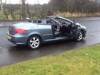 307CC CONVERTIBLE 2007 PEUGEOT 307CC 1.6 SPORT CONVERTIBLE 2DR 62000 MILES,LOADS OF EXTRAS,BEAUTIFUL