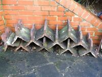 12 Victorian roof ridge tiles for immediate pick up. cash only to purchase