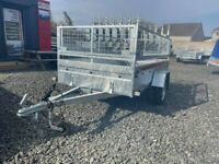 BRAND NEW 8.2 X 4.3 SINGLE AXLE MASTER BORO TRAILER WITH 40CM MESH 750KG