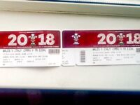 STILL AVAILABLE : Two Six Nations Rugby Tickets - Wales V Italy 11/03/18 3pm