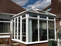 Conservatory - double glazed - double opening doors- opening skylight -excellent condition