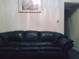 Beautiful soft leather sofa with 3 seats,