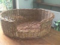 Extra large wicker dog basket