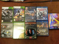 Xbox 360 and PC games, dvds, blurays