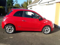 2011 Red Fiat 500s, FSH, MOT'd Sept 18, 2 lady owners, £30pa road tax, air con, bluetooth, VGC.