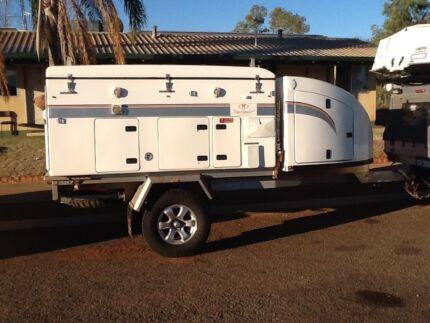 Travelander Slide on Camper with trailer