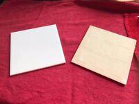 66 Ceramic White Tiles - 15cm x 15cm