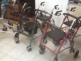 Mobility aide walkers from £35 upto £55each-all are ex-showroom display models-all have brakes