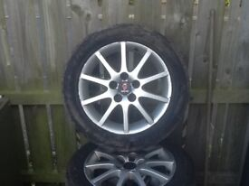 4 alloy wheels for Saab car for sale 16inch £150 Ono for quick sale