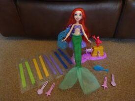 As New Disney Princess Ariel's Royal Ribbon Salon Doll Only £6