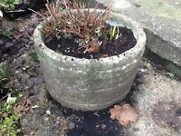 "Garden Pot. Round pot (x 2) 15"" diameter excluding rim."