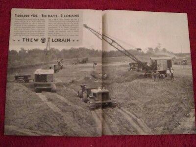 1932 Ad Advertisementthew Shovel Co. Lorain 83 Dragline Yazoo Levee Clack Ms