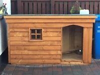 *New Large Dog Kennel with Porch, Window & Insulation*(Box,Run,House,Bed,Heavy Duty Timber)