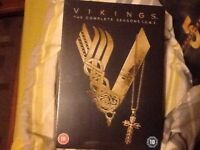 Vickings Boxset complete seasons 1,2 & 3 brand new in shops for £25 selling for £15ono