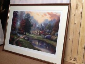 Thomas Kinkade Ltd Edition Print - Lakeside Manor
