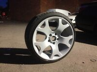 19 inch Bmw X5 Tiger Claw Alloy Wheels and Stretched Tyres..(e36,e46,330,Mv2,M3,