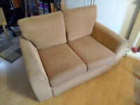 Tan two seater Sofa Free for pick up, Collection only as cannot deliver