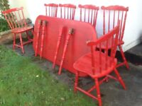 Upcycled table and chairs. Fast sale £80