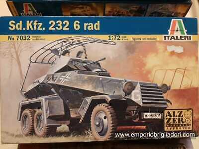 Sd.Kfz. 232 6 Rad German Military WWII 1/72 Italeri Plastic Kit No 7032