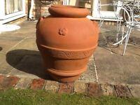 Italian frost free terracotta large garden pot height 70 cms width 50 cms