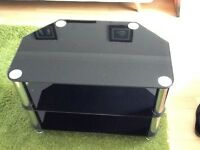 Black glass TV table now reduced to £4.00