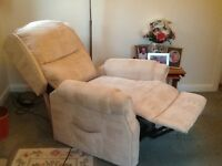 Electric recliner chair. Two years old but never used. Colour beige. £220