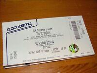 Stranglers Concert ticket Thursday 30th March Bristol O2 Academy