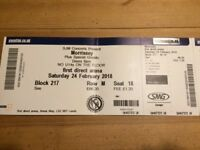 X2 Morrissey seated tickets.leeds