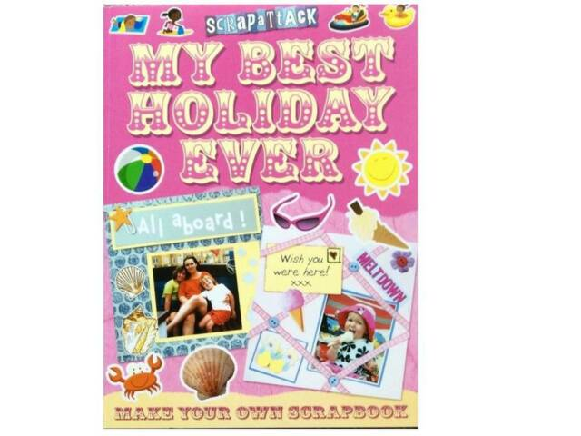 ScrapAttack My Best Holiday Ever Scrapbook PB Scrapbook Projects Ideas New Book