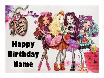 EVER AFTER HIGH A4 Edible Icing Birthday Cake Party Decoration Topper](Ever After High Decorations)