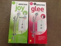 Bristan electric showers Joy and Glee 9.5kw