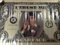 Scarface Tony Montana framed picture and poster