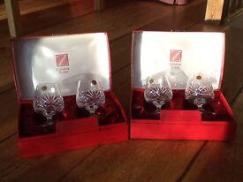 German lead crystal brandy glasses