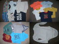 Bundle of 40 Summer clothes for boy 6-9mths/ 6-9 mths. In excellent, very good and good condition.