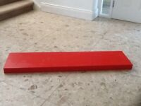 IKEA red LACK floating wall shelves (2)