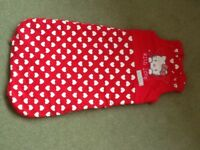 Hello Kitty sleeping bag 0-6 months, not used, new