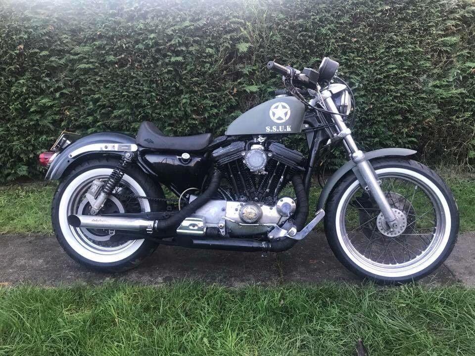 Harley Davidson Sportster 1200 Xlh1200 Swap Van Not 883 Buell V Twin Chopper Bobber Military