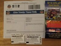 Today's Alton towers Halloween tickets 2 X adults and 1 X child