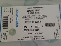 1 SEATED DIMITRI VEGAS AND LIKE MIKE TICKET