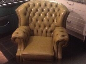Old buttoned chair