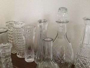 Entire Lot of Clear Glass Wedding Centerpiece Sets