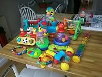 Variety of child and toddler toys.