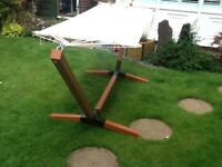 Large free standing hammock for sale unused and in immaculate condition